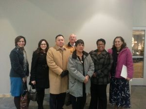 Colorado advocates outside the meeting
